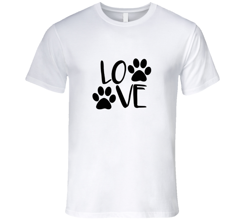Dog Paw Print t-shirt Dog love paw print t shirt love dog tshirt