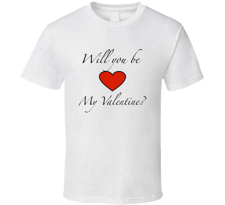 Valentines day t-shirt Be My Valentine t shirt Love heart tshirt