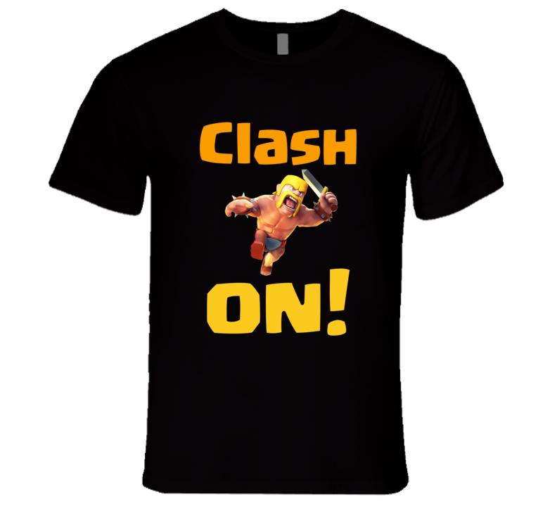 Clash of Clans Clash On T-Shirt COC Gamer T shirt