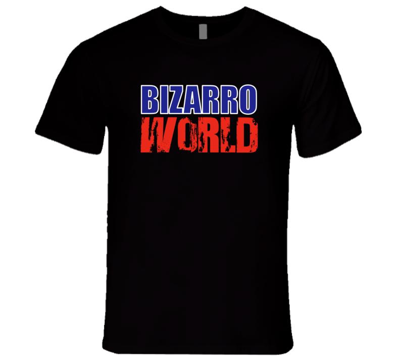 Bizarro World Superman Comics T-Shirt Seinfeld Bizarro World tshirt