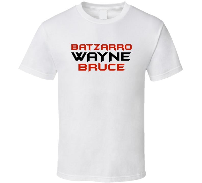 Batzarro Wayne Bruce Batman Comic T-Shirt White Batzarro Tshirt