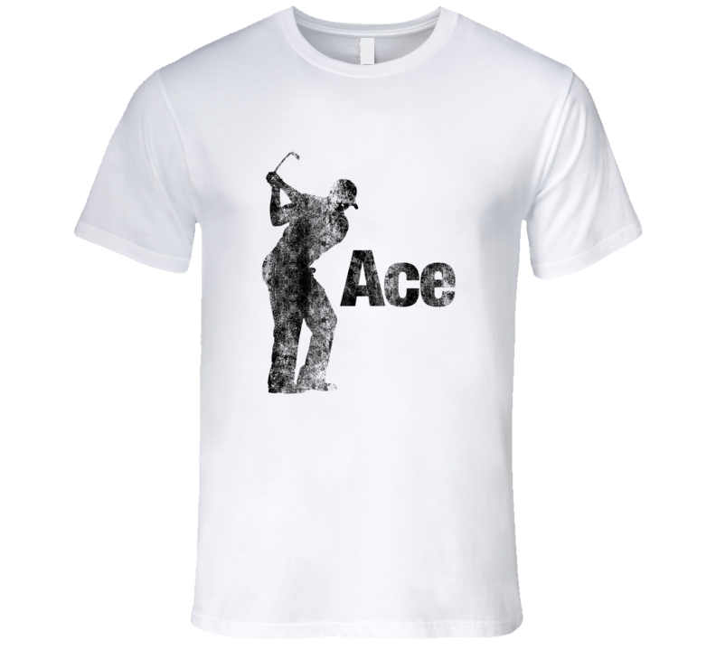 Golf Tshirt Ace Hole In One Drive Tee Off Funny Vintage T-Shirt