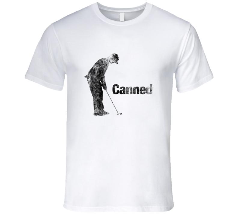 Golf Tshirt Putter Canned Funny Golfing Vintage T-Shirt