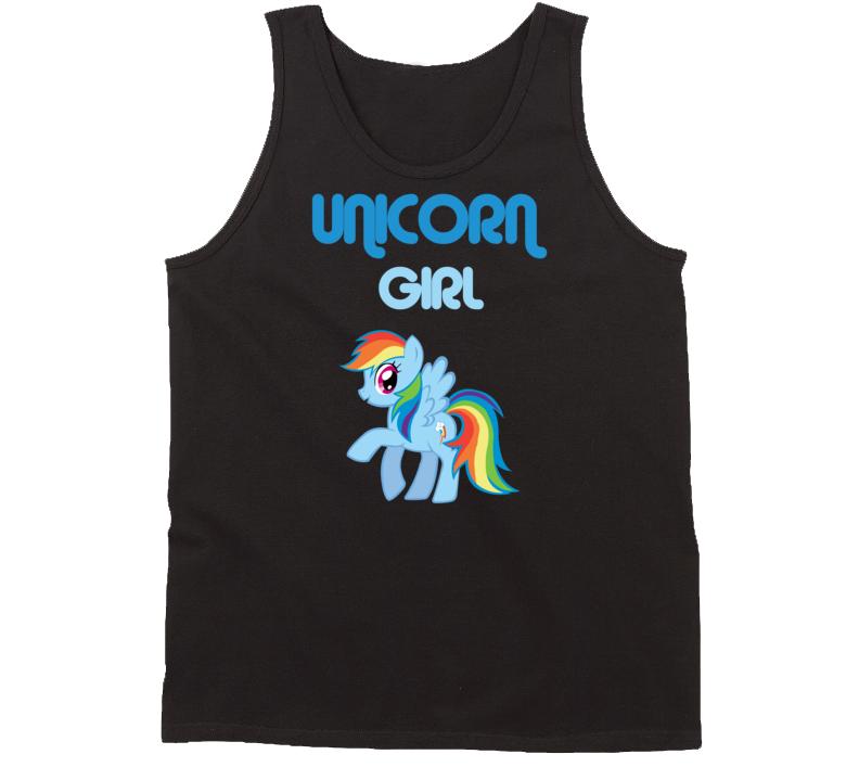 Unicorn Girl Ladies tank top Unicorn rainbow Girl Tank Top