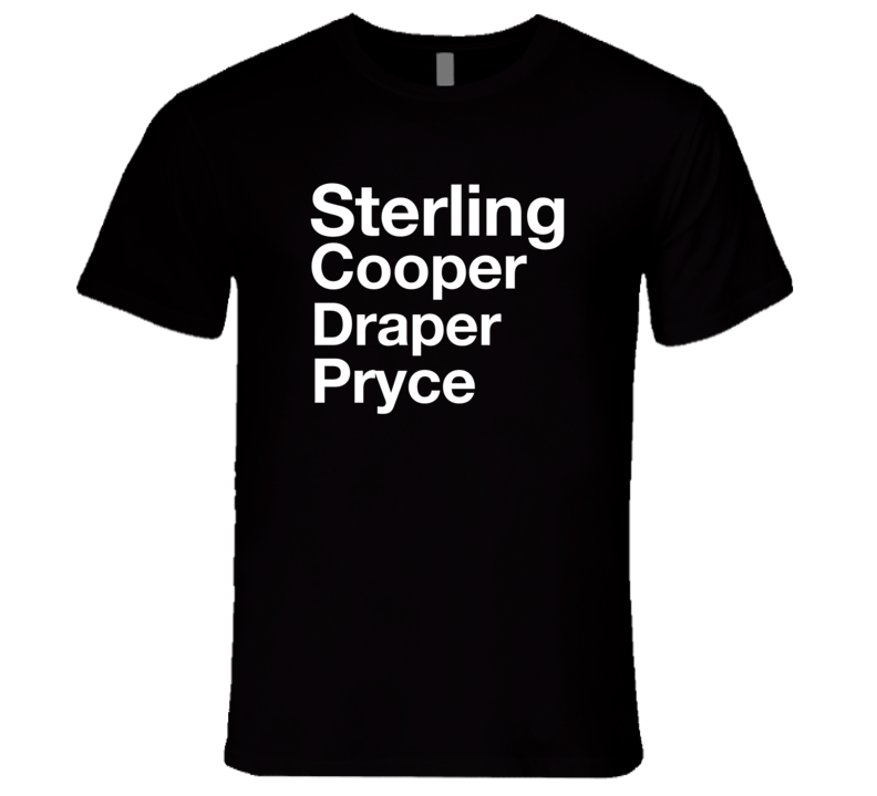 Mad Men Sterling Cooper Draper Pryce T-Shirt Mad Men Advertising Agency T Shirt