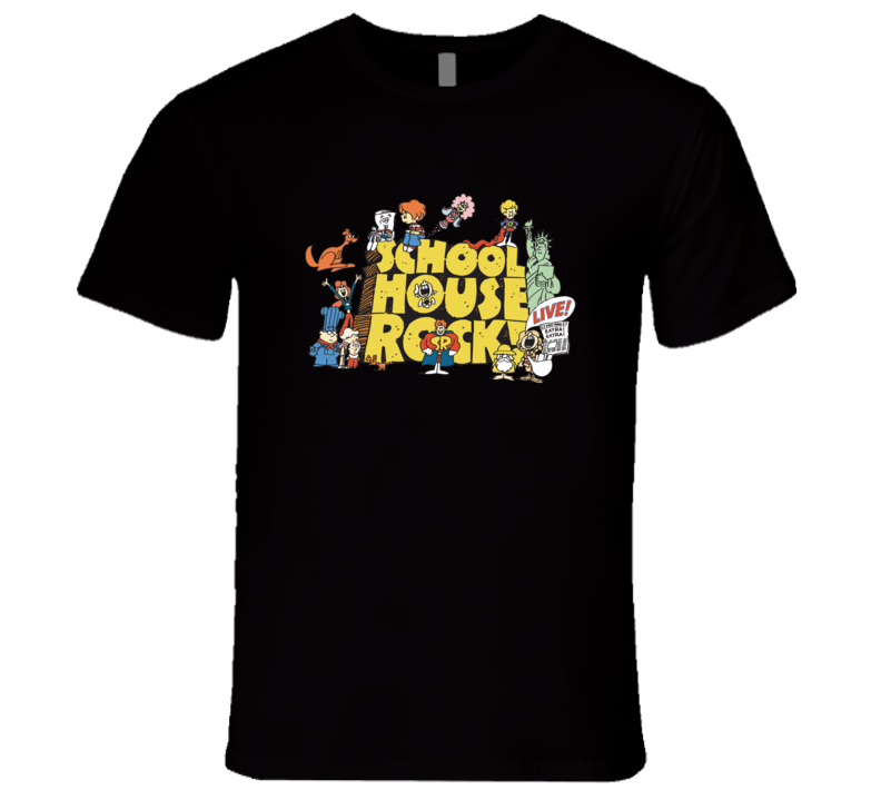 Schoolhouse Rock Logo 1970's Retro Cartoon T-Shirt