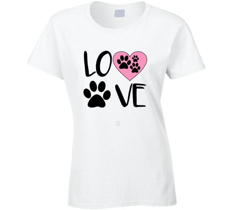 Dogs Are Love Paw Print Best Friend Dog Lover T-Shirt Doggy Love Tshirt