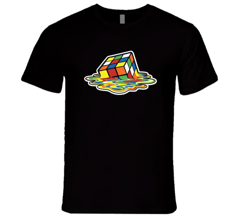 Melting Rubik's Cube 1980's T-Shirt Sheldon Cooper T Shirt