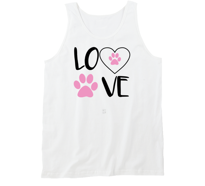 I love Golden Retrievers Dog Paw Print Tank Top Goldens My Golden Tank