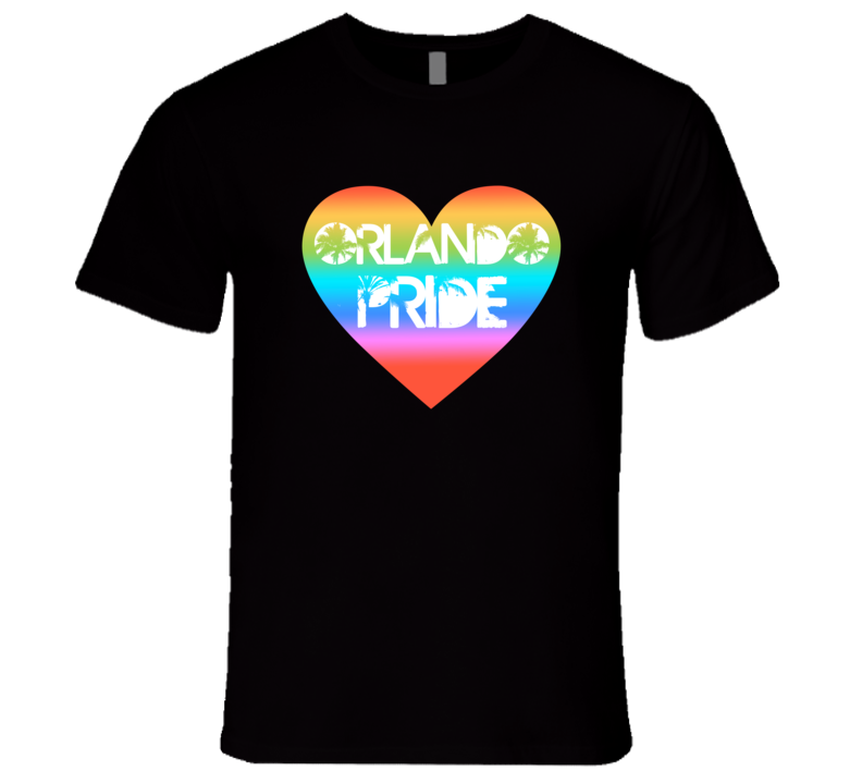 Orlando Pride T-Shirt Support LGBT Community T Shirt Gay Pride Black Mens T Shirt