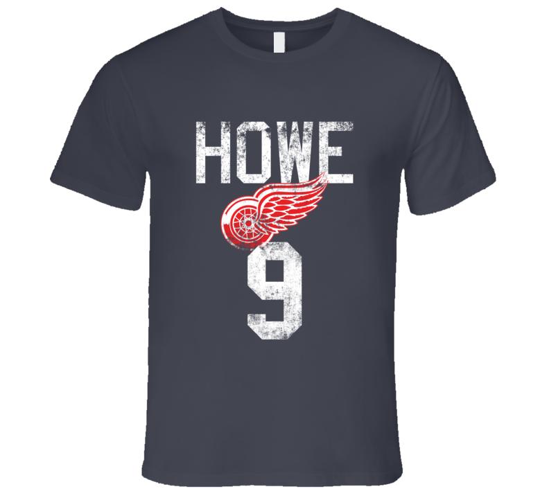 Gordie Howe VINTAGE Mr. Hockey Detroit Red Wings Tribute T-Shirt Mr. Hockey Hat Trick TShirt