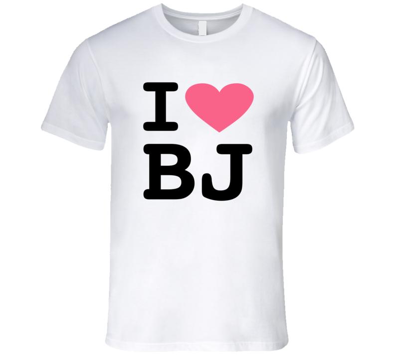I Love Beijing T-Shirt I love BJ Parody LGBT Mens White Graphic T Shirt