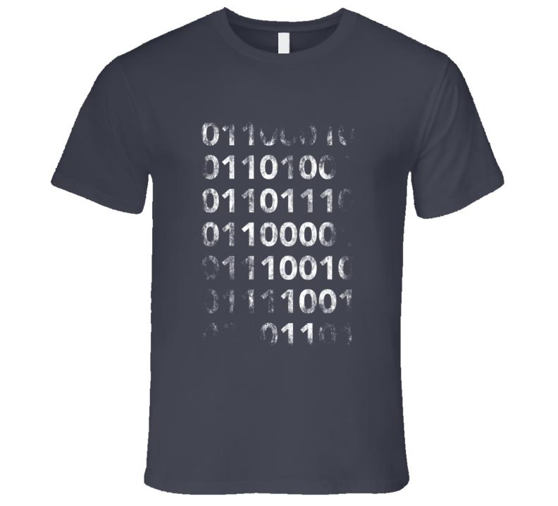 Vintage Binary Tshirt Silicon Valley Funny Geek T-shirt HTML code shirt