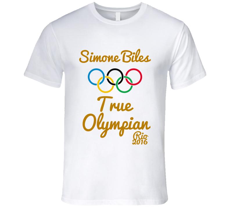 Simone Biles True Olympian Gold Medal Winner USA Olympian T-Shirt