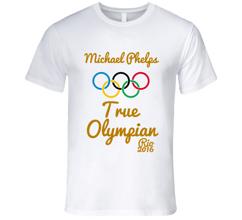 Michael Phelps True Olypian Gold Medal Winner USA Rio Swimming T-Shirt
