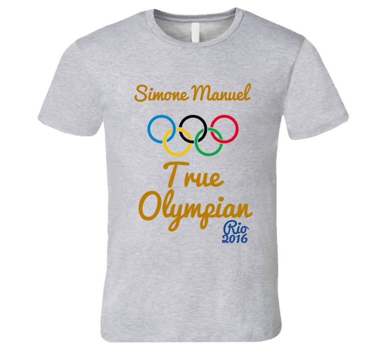 Simone Manuel True Olympian Gold Medla Rio Swimming Champion T-Shirt