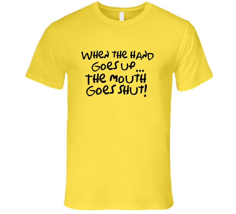 Meatballs Morty When the hand goes up the mouth goes shut T-shirt Meatballs Movie T Shirt