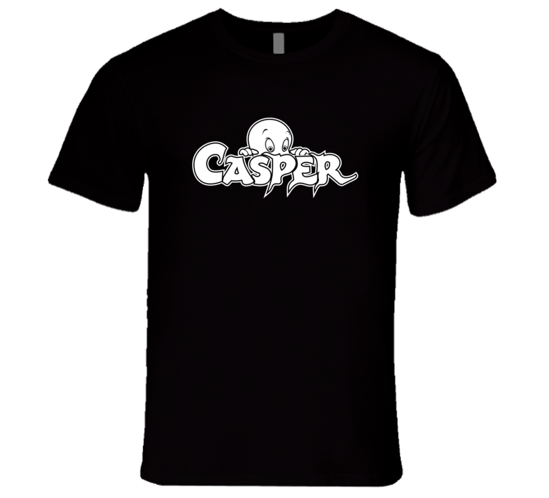 Casper the Friendly Ghost Logo T-Shirt Casper Cartoon T-Shirt
