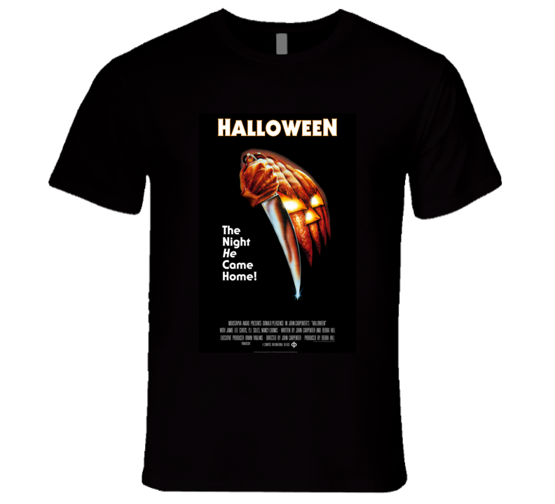 Halloween Movie Poster 1978 Black T-Shirt