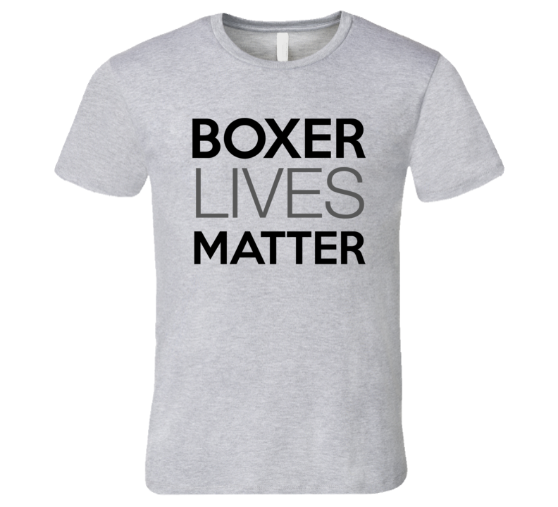 Boxer Lives Matter T-Shirt Rescue Boxer Dogs T Shirt