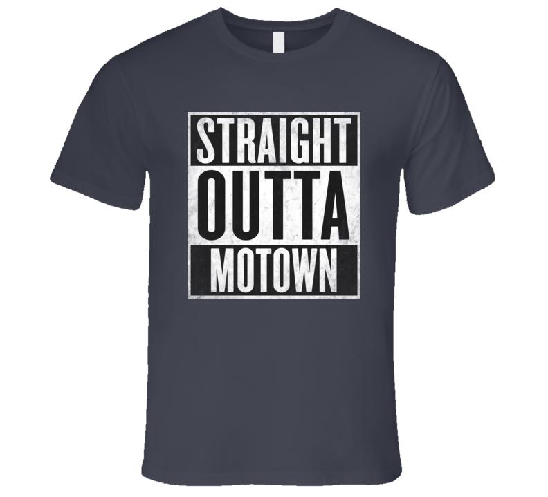 Straight Outta Motown T-shirt Detroit Michigan Nickname Tshirt