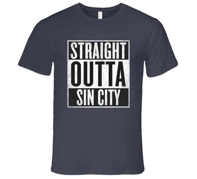 Straight Outta SIN CITY T-shirt Las Vegas Nevada Nickname Tshirt