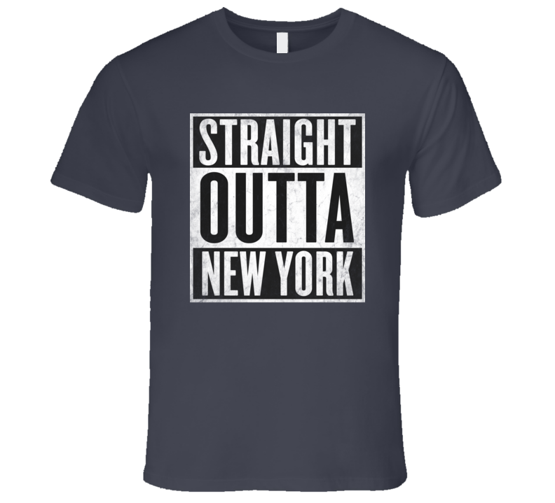 Straight Outta NEW-YORK NY City T-shirt USA New York State Tshirt