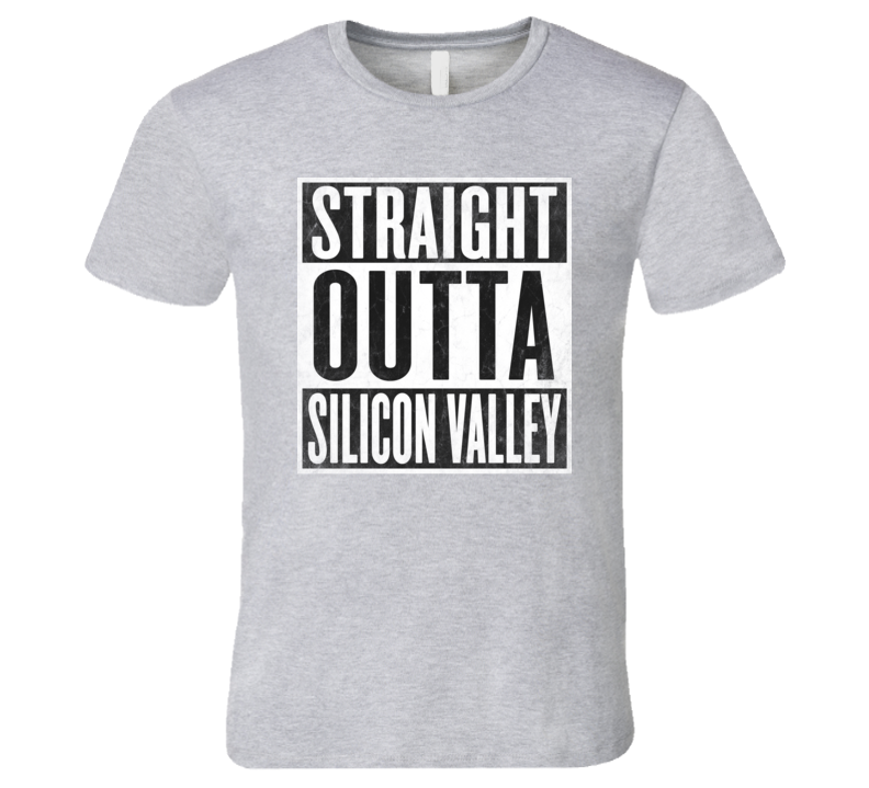 Straight Outta SILICON-VALLEY T-shirt USA High-Tech California Computer Technology Chip Tshirt