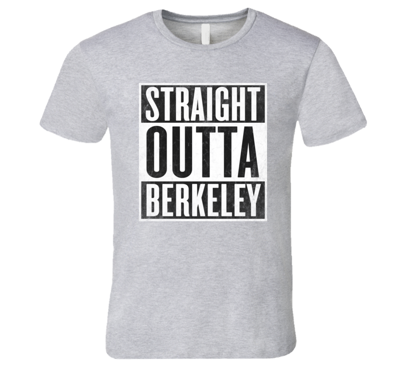 Straight Outta BERKELEY T-shirt USA University of California Berkeley College PAC-12 Graduate Alumni Tshirt