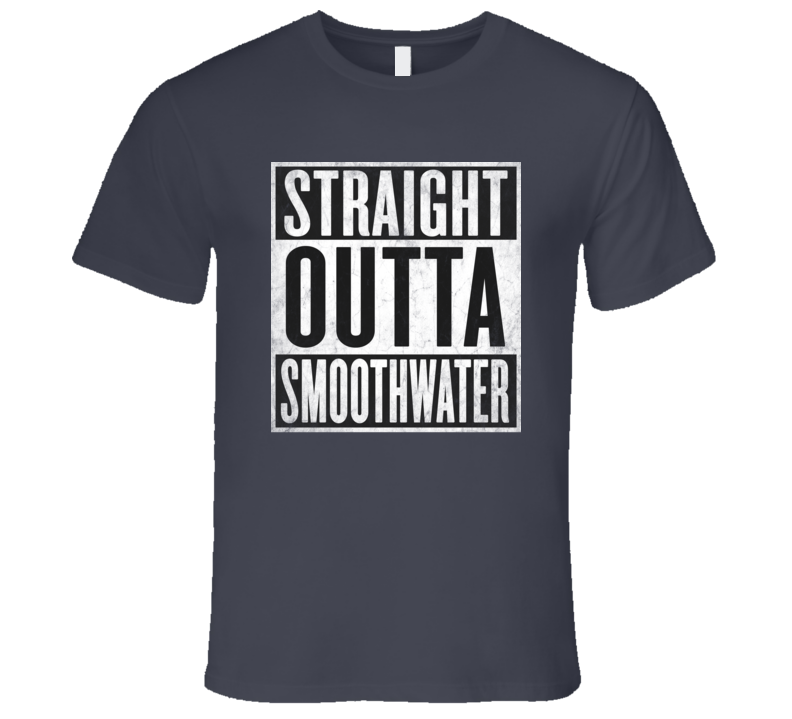 Straight Outta SMOOTHWATER T-shirt Markham Ontario Canada Live in the Suburbs tshirt