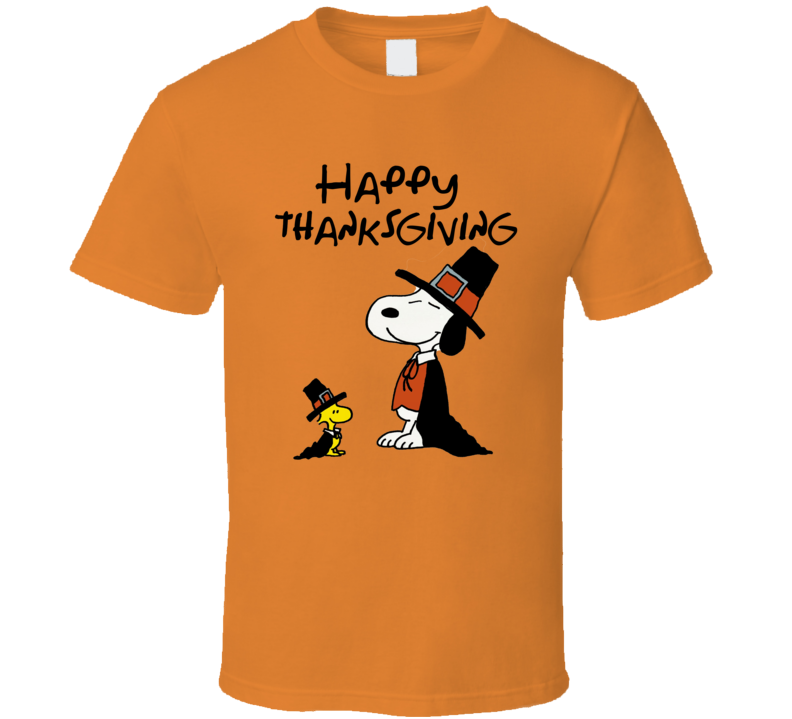 Charlie Brown Snoopy Happy Thanksgiving Graphic T-Shirt