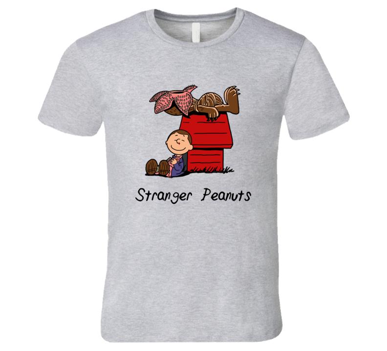 Stranger Peanuts funny Stranger Things TV Cartoon T-Short T Shirt