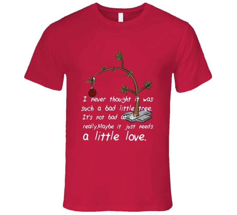 Charlie Brown Christmas Tree needs a little love T-Shirt