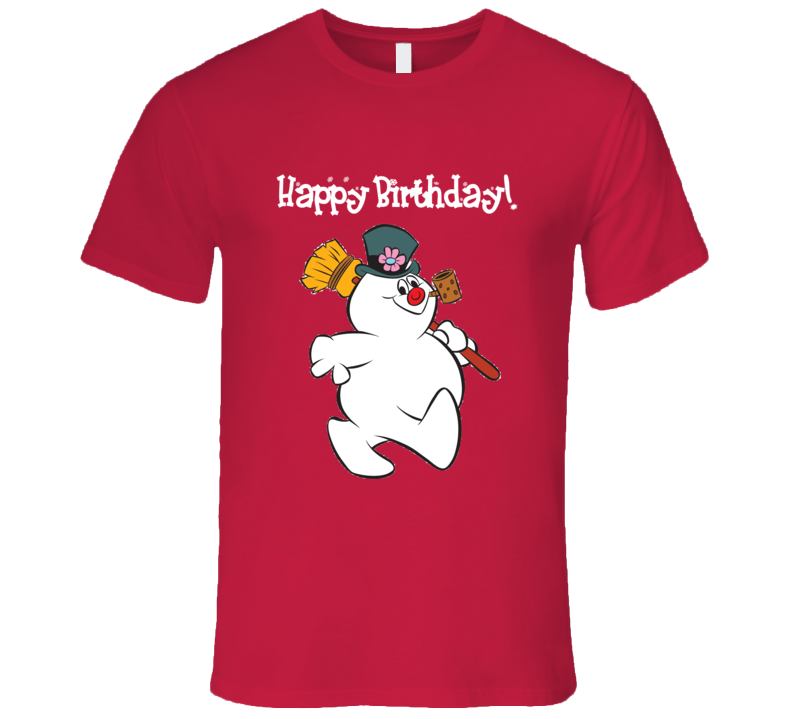 Frosty The Snowman Happy Birthday Christmas Graphic T-Shirt
