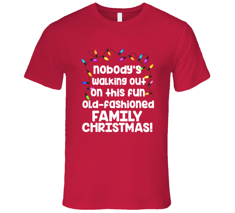 Christmas Vacation Fun Old Fashion Family Christmas T-Shirt