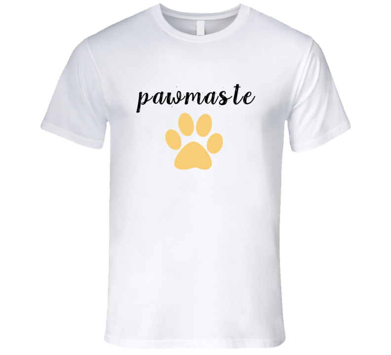 Pawmaste Yoga Dog Lover Rescue Paw Print T-Shirt