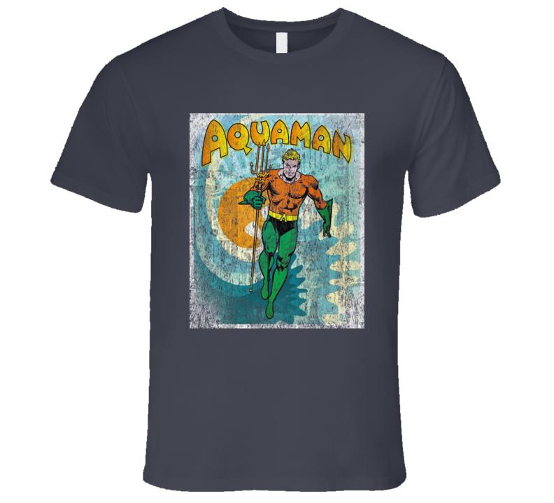 Aquaman Cartoon Comic Sheldon Cooper Retro Old School T-Shirt