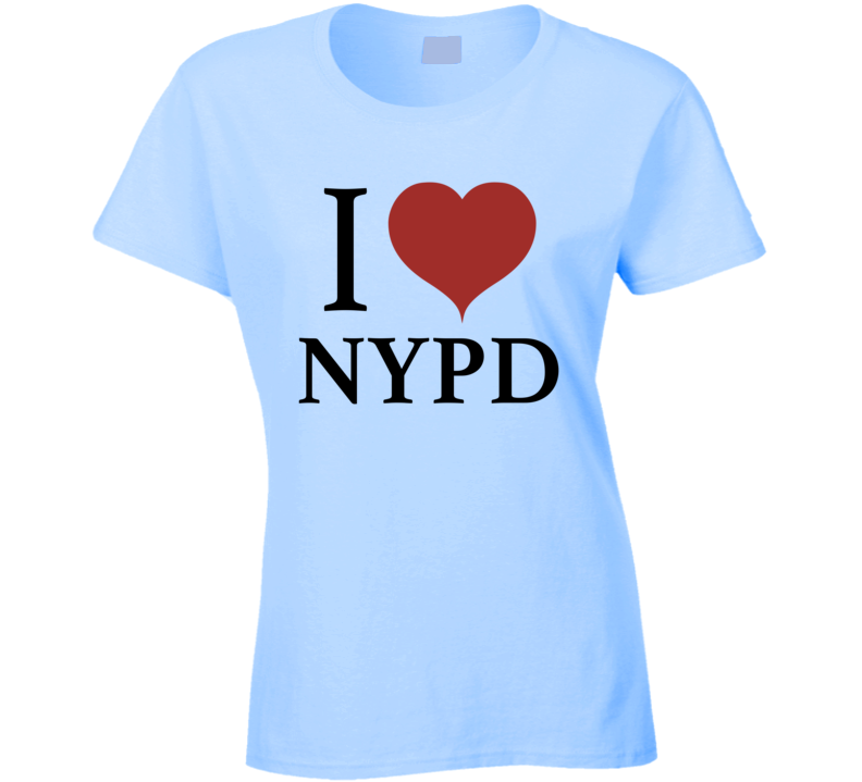I Heart Love NYPD New York City Police Department Support T-Shirt