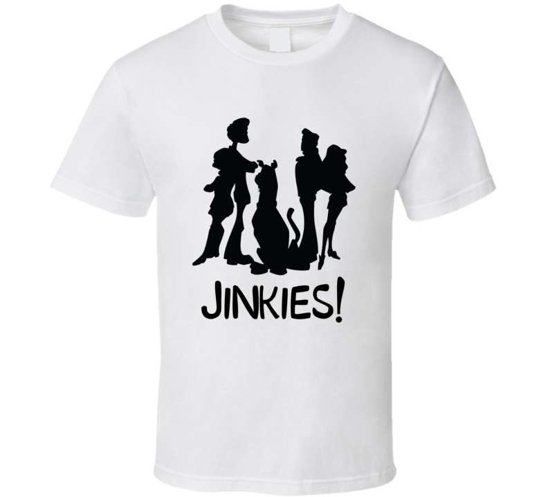 Scooby Doo Jinkies Cartoon Silhouette Halloween Cartoon T-shirt