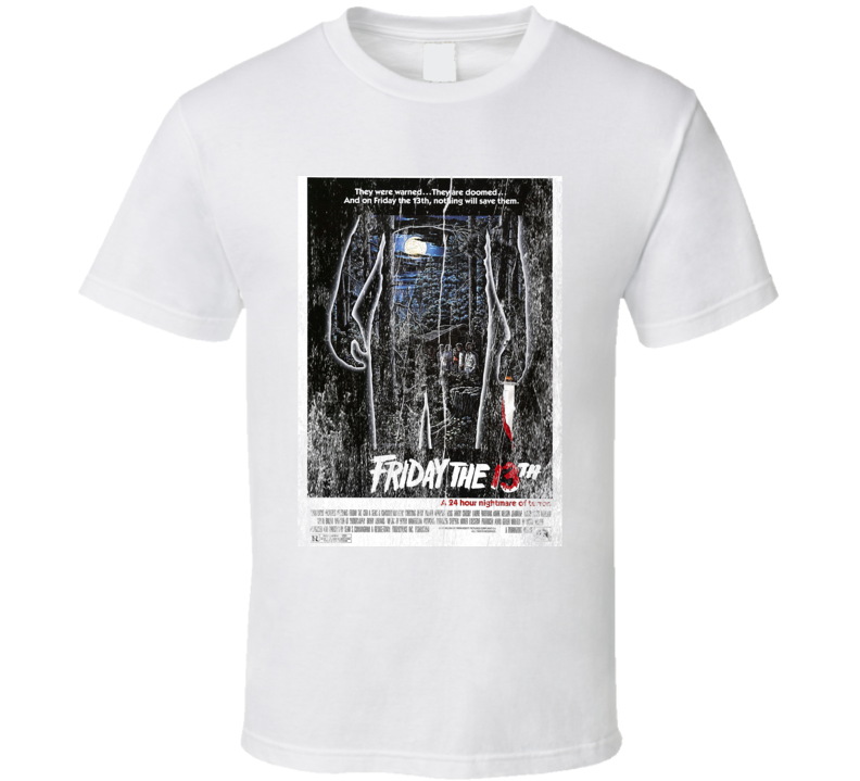 Friday The 13th Original Movie Poster Vintage Retro Classic T-shirt