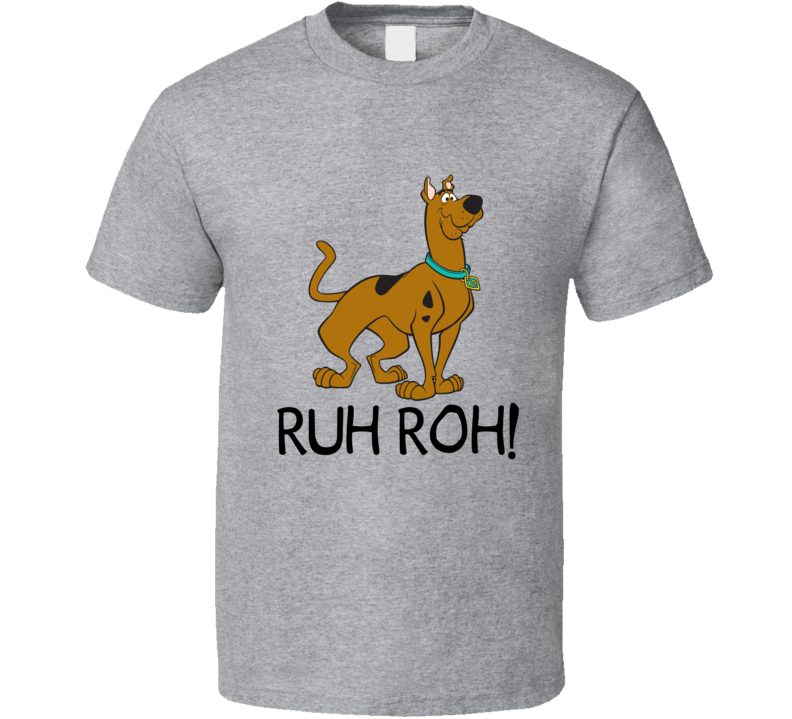 Scooby Doo Ruh Roh! Funny Scooby Retro Cartoon Graphic Image T Shirt