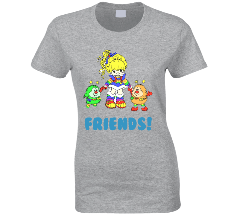 Rainbow Brite 80's Girl 1980s Retro Cartoon Classic Style T Shirt
