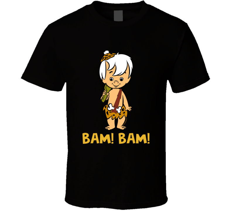 Bam! Bam! Flinstones Cartoon Character Retro Vintage 1960's T-shirt