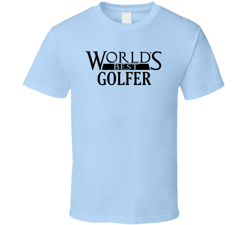 Worlds Best Golfer Fathers Day Dad Loves Golf T Shirt
