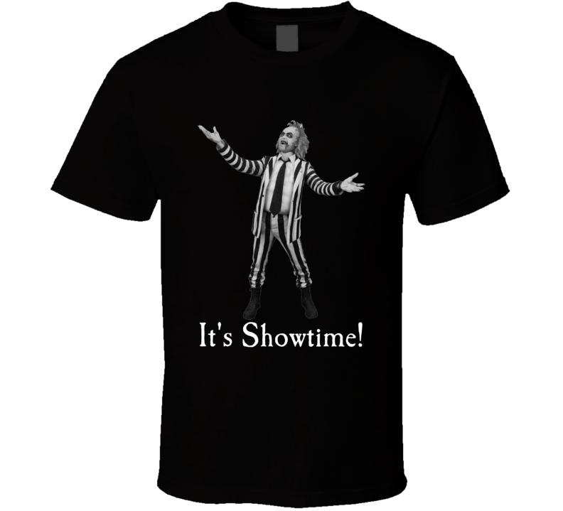 Beetlejuice It's Showtime Popculture Halloween Retro Movie T-shirt