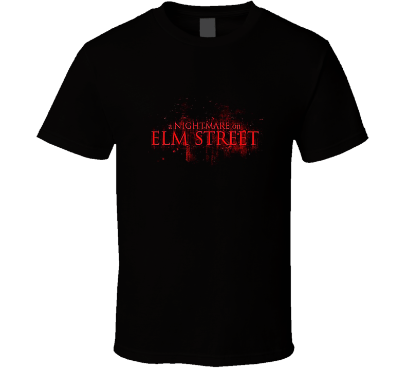Nightmare On Elmstreet Original Movie Logo 1980's Halloween Movie T-shirt
