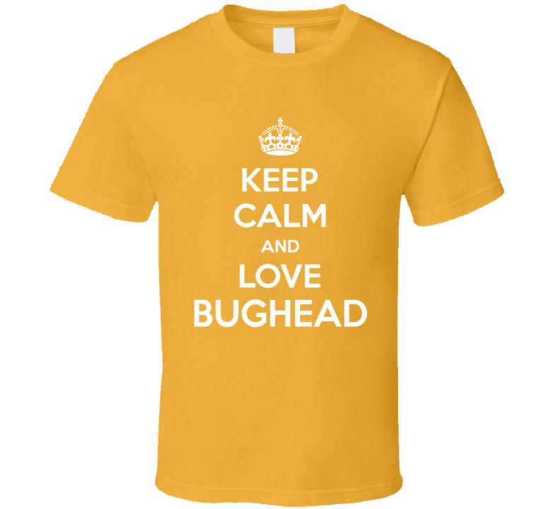 Keep Calm And Love Bughead Riverdale Comics Betty Jughead Couple T-shirt