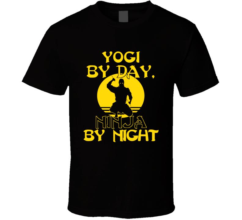 Yogi By Day Ninja By Night Yoga Man T-shirt