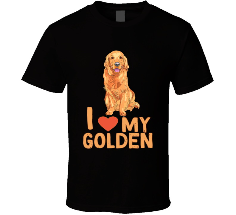 I Heart My Golden Golden Retriever Love Rescue Tshirt