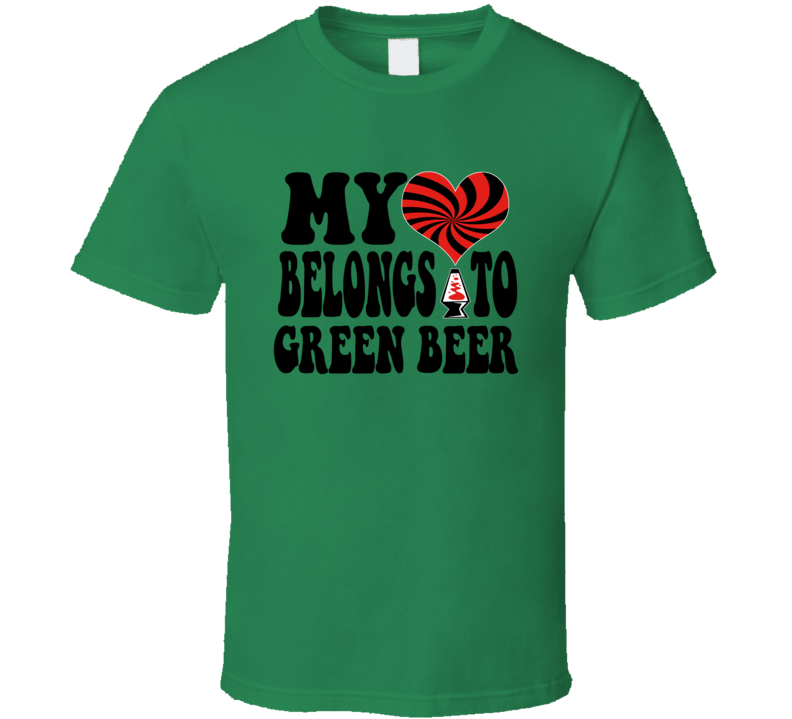 My Heart Belongs To Green Beer Retro St. Patrick's Party T-shirt